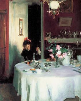 John Singer Sargent : The Breakfast Table