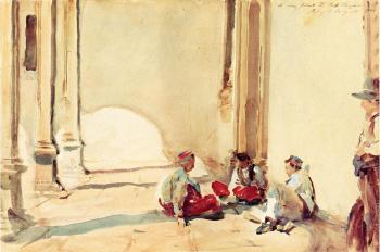 John Singer Sargent : A Spanish Barracks