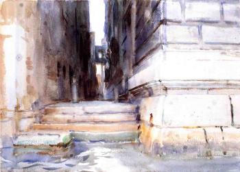 John Singer Sargent : Base of a Palace