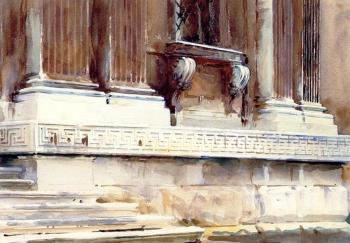 John Singer Sargent : Base of a Palace II