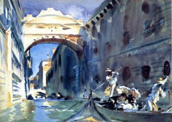 John Singer Sargent : Bridge of Sighs