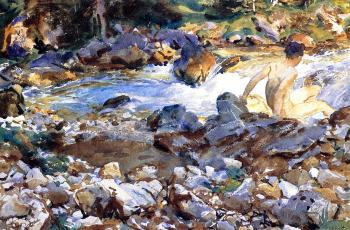 John Singer Sargent : Mountain Stream