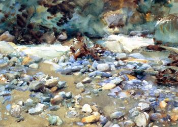 John Singer Sargent : Purtud, Bed of a Glacier Torrent