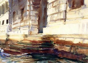 John Singer Sargent : Steps of a Palace