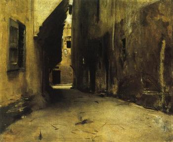 John Singer Sargent : A Street in Venice