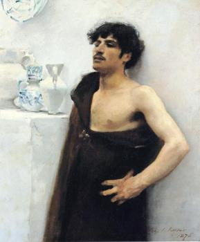John Singer Sargent : Young Man in Reverie