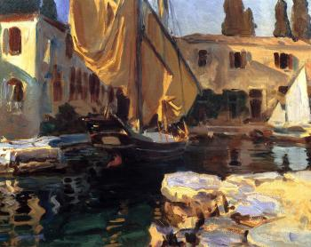 San Vigilio,A Boat with Golden Sail