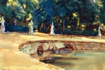 Sargent, John Singer - Pool in the Garden of La Granja
