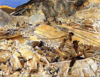 Bringing Down Marble from the Quarries in Carrara
