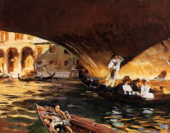John Singer Sargent : The Rialto,Grand Canal