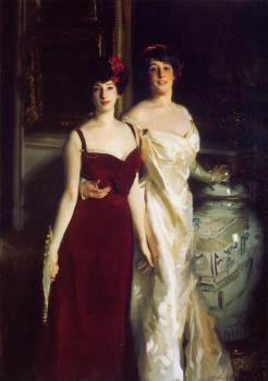 John Singer Sargent : Ena and Betty, Daughters of Asher and Mrs Wertheimer
