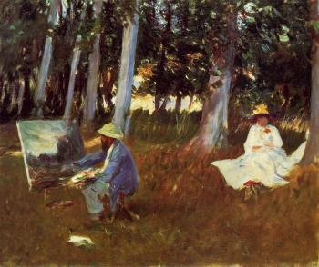 John Singer Sargent : Claude Monet Painting by the Edge of a Wood