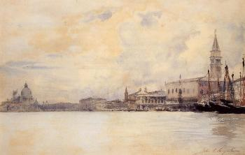John Singer Sargent : The Entrance to the Grand Canal, Venice II