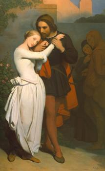 Ary Scheffer : Faust and Marguerite in the Garden