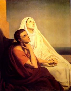 Ary Scheffer : Saint Monique and Saint Augustine