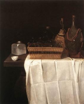 Still Life With Glasses And Bottles