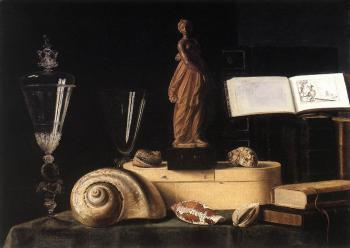 Still Life With Statuette And Shells