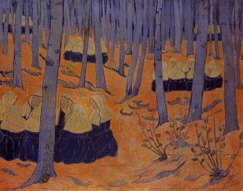 Paul Serusier : Breton Women, the Meeting in the Sacred Grove