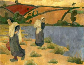 Paul Serusier : Laundresses at the River
