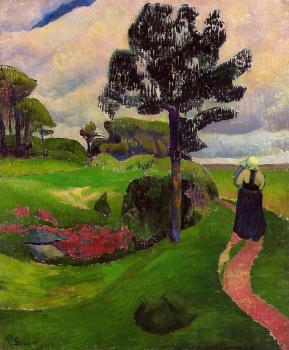 Paul Serusier : Mother and Child on a Breton Landscape