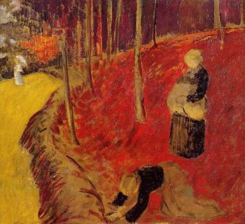 Paul Serusier : The Fern Harvesters in the Boid d'Amour at Pont Aven