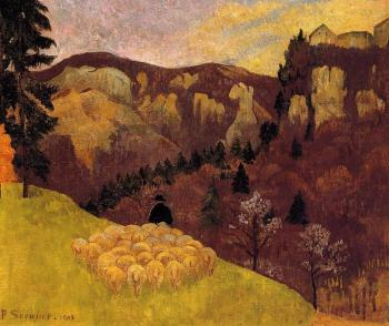 Paul Serusier : The Flock in the Black Forest