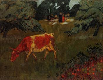 Paul Serusier : The Wash in a Large Meadow