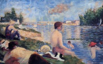 Bathing at Asnieres, Final Study