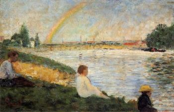 Bathing at Asnieres, Rainbow