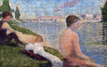 Bathing at Asnieres, Seated Bather