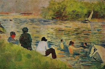 Bathing at Asnieres, The Bank of the Seine