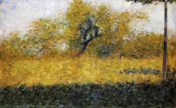 Georges Seurat : Edge of Wood, Springtime