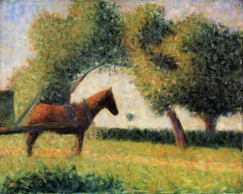 Georges Seurat : Horse and Cart