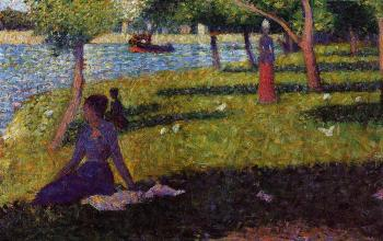 La Grande Jatte, Seated and Standing Woman