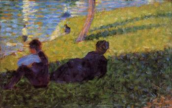 La Grande Jatte, Seated Man, Reclining Woman