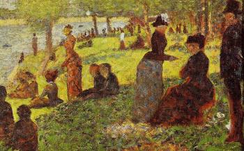 La Grande Jatte, Sketch with Many Figures
