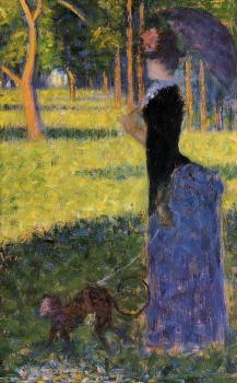 Georges Seurat : La Grande Jatte, Woman with a Monkey