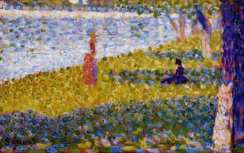 La Grande Jatte, Women by the Water