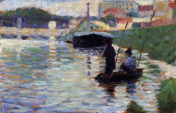 Georges Seurat : The Bridge, View of the Seine