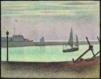 Georges Seurat : The Channel at Gravelines, Evening