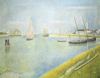 Georges Seurat : The Channel at Gravelines, in the Direction of the Sea