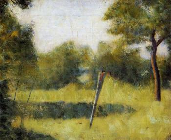 Georges Seurat : The Clearing, Landscape with a Stake