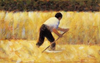 Georges Seurat : The Mower