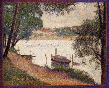 Georges Seurat : The Seine at La Grande Jatte in the Spring