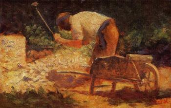 Georges Seurat : The Stone Breaker IV