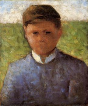 Georges Seurat : Young Peasant in Blue