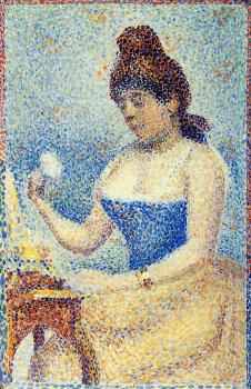 Georges Seurat : Young Woman Powdering Herself II