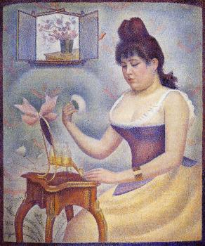 Georges Seurat : Young Woman Powdering Herself III