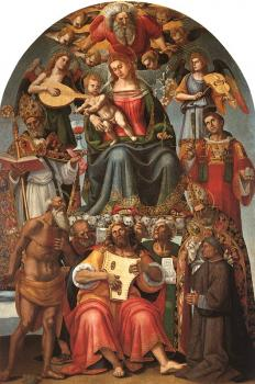 Luca Signorelli : Madonna and Child with Saints,