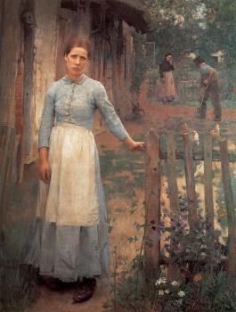 Sir George Clausen : The Girl at the Gate